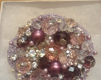 Jeweled pin, brooch, broach, pin, decorative jewelry, beaded