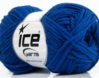 WOOL ICE MOJITO (60% COTTON) 50G FINGERING OCEAN BLUE 5 / / 57