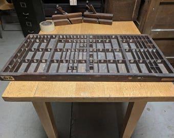 Hamilton MFG Co. Letterpress Typeset Drawer #14