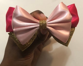 Sleeping Beauty Princess Aurora Inspired Bow, Disney Bow, Disney Princess, Disney Hairbow, Disney gifts for her