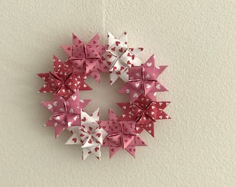Moravian Star Wreath—Hearts