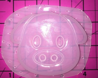 25% off Pig  Emoji - Flexible Plastic Resin Mold