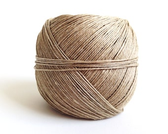 Hemp cord - Natural #10. Spool of natural polished hemp cord made in Spain. Genuine hemp twine.