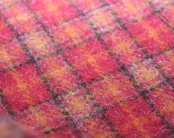 Wool, Plaid of red, orange and black