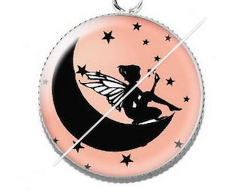 Pendant cabochon resin fairy 7 stars