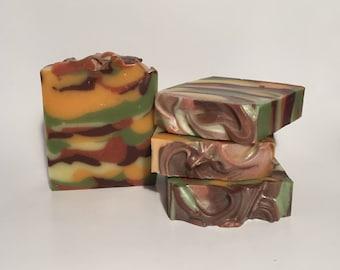 Woodland Elves Soap, Cold Process Soap, Homemade Soap, Handmade Soap, Vegan Soap