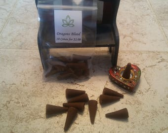 Dragons Blood Incense Cones. Handmade, hand dipped