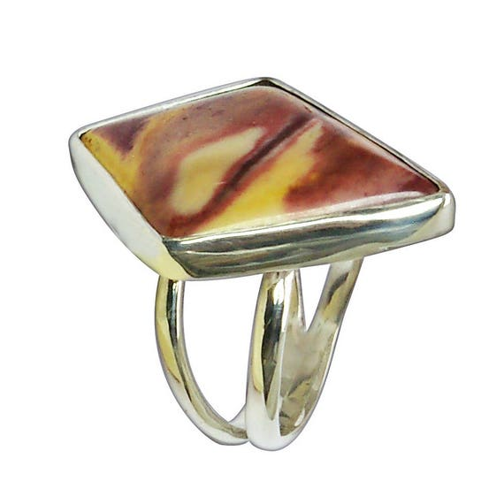 Mookaite Jasper and Sterling Silver Ring, Size 7-1/4  r725mktf2864