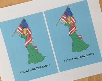 DREAMers Printable Postcard