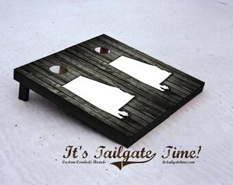 Alabama Woodslat Themed Custom Cornhole Boards