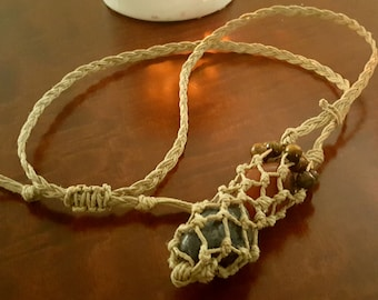 Hemp Crystal Pouch Necklace