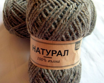 Natural wool yarn. Natural color(003) DSH(H)