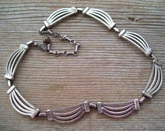Renoir Sterling Necklace, Vintage RENOIR SAUTEUR Sterling Silver Swag Necklace, Vintage Sterling Jewelry, MCM Sterling, Sauteur Jewelry