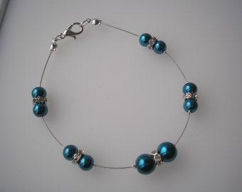 Dainty Pearl Bracelet, Pearl & Diamante Bracelet, Girls Pearl Bracelet, Ladies Pearl Bracelet, Wedding Bracelet, Childs Bracelet, 11RAB