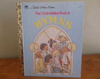 "Vintage Little Golden Book, ""The Little Golden Book of Hymns"" copyright 1985, Vintage children's book"