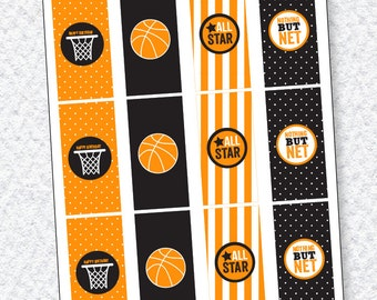 Basketball Candy Bar Wrapper PRINTABLE (INSTANT DOWNLOAD) by Love The Day