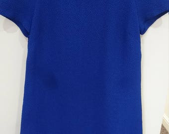 Royal Blue Short Sleeves Shift Dress