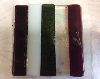 Fused glass coaster in various colours