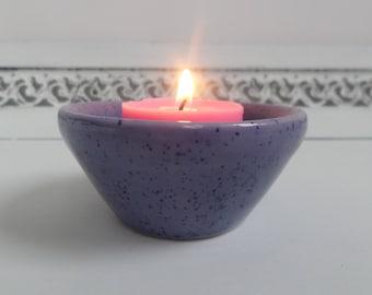 Purple Speckled Bowl/Tealight Holder