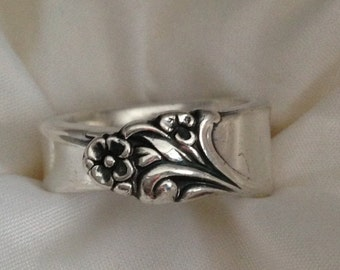 Spoon Ring Firelight 1959 Choose Your Size 6 to 12 Vintage Silverplate Silverware Jewelry