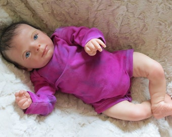 Tie Dye Onesie, 0-3 month, Long Sleeve Tie Dye Onesie, Long Sleeve Onesie, Onesie, Tie Dye Bodysuit, Tie Dye Infant Bodysuit
