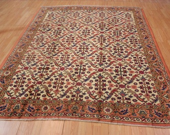 6' X 9' Hand Knotted Turkish Area Rug