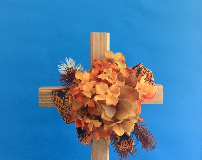 Cemetery flowers, flowers for grave, grave decoration, memorial cross, Cross for grave, grave marker, floral memorial