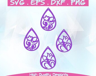 Earrings,leather jewelry making, SVG, DXF,PNG,Cricut, Silhouette,cutting machine,vector graphic,explore,template.