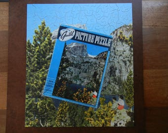 Guild Picture Puzzle ~ Bear Lake and Hallet Peak ~ Union Pacific Railroad Picture