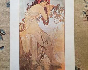 Alphonse Mucha Season Summer Vintage Art Nouveau Print