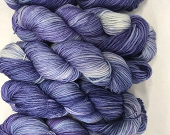 Hand dyed yarn/ huckleberry worsted weight