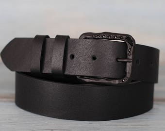 Leather Belt, Black Leather Belt, Womens Belt, Fashion Belt