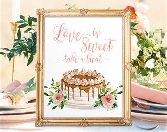 Digital Printable Wedding Dessert Bar Sign Love is Sweet Signs Sweets Table Sign Sweet Treats Sign Candy Buffet Signs Dessert Table Sign DS6
