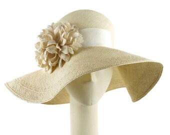Womens Straw Hat, Wedding Hat, Sun Hat for Women, Wide Brim Hat, Womens Hat, Summer Hat, Occasion Hat, Ladies Hat, Mother of the Bride Hat