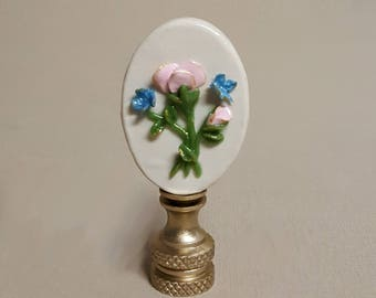 Rose wih Butterflies Cameo Lamp Finial... Hand crafted to order
