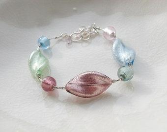 Sterling Murano Glass Bracelet