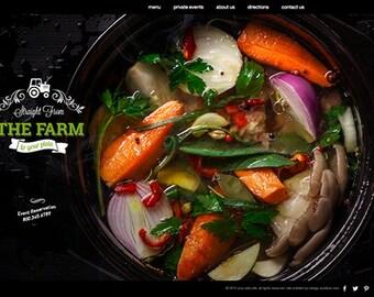 WordPress web-Design-Website für Food & Restaurant Webseite kleines Business-Website vorgefertigte Webseite Wordpress Website-Vorlage