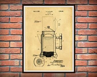 Patent 1930 Coffee Pot - Wall Art Print - Kitchen Art- Poster - Restaurant Wall Art - Housewares - Coffee Shop Wall Art