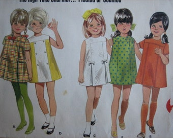 Butterick Pattern 4848 Children's One-Piece Dress       1960's       Uncut