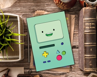 INSTANT DOWNLOAD / Adventure Time stationary / BMO blank card, Beemo / Adventure Time blank card / Bmo stationary, Beemo stationary