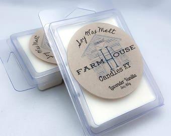 Lavender Vanilla Wax Melts--Wax Melts, Wax Tarts, Soy Wax Melts, Candle Melts, Scented Wax Cubes, Vanilla Wax Melt, Handmade