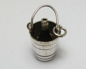 Vintage Sterling Silver Wine Chiller Bucket Charm