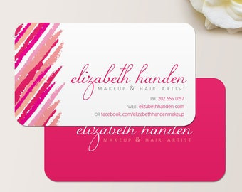 Makeup Artist Lipstick Business Card / Calling Card / Mommy Card / Contact Card - Cosmetologist Business Card, Modern Business Cards