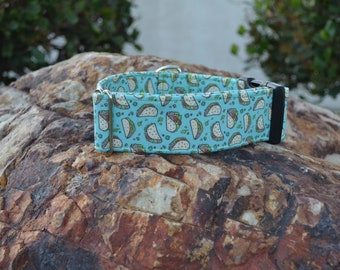 The Taco Tuesday Dog Collar (Martingale or Buckle)