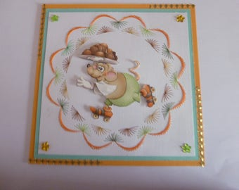201811 embroidered child's birthday card or other occasion