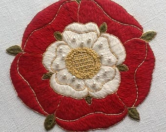 Tudor Rose Crewel Embroidery Kit