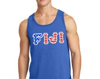 FIJI Twill American Flag Tank Top