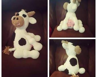 Crochet Stuffed Cow