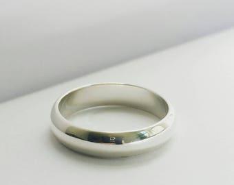Men's 14K Solid gold wide wedding band. Women's wedding ring. Men's gold wedding band. Solid Gold Wedding Ring. Unisex wedding band.