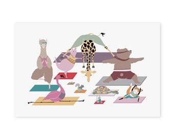 Yoga Animals Art Print